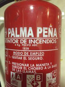 Extintores palma peña