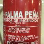 Palma peña extintores